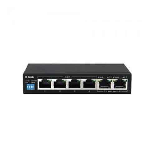 D Link DES F1006P E 6 Port Unmanaged PoE Switch price in hyderabad, telangana, nellore, vizag, bangalore