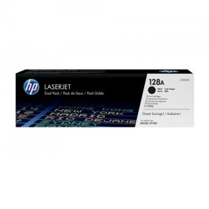 HP 128A CE320AD Twin Pack Black LaserJet Toner Cartridge price in hyderabad, telangana, nellore, vizag, bangalore