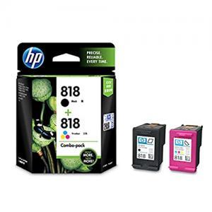 HP 818 CN068AA Combo Black Tri color Ink Cartridge price in hyderabad, telangana, nellore, vizag, bangalore